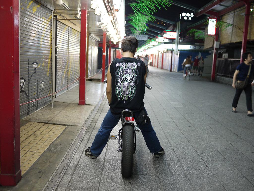 Tokyo rider in Tokyo